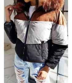 Hnedá dámska bunda Must Trio Winter Season, Color Schemes, Jackets For Women, Bomber Jacket, Vest, Stylish, Brown, Model, Beautiful