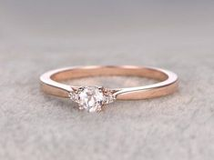3 stones Morganite Engagement ring Rose gold,Diamond wedding Round Cut,Gemstone Promise Bridal Ring,Plain gold matching band There are different … Engagement Ring Rose Gold, Classic Engagement Rings, Gold Diamond Wedding Band, Morganite Engagement, Engagement Ring Settings, Wedding Bands, Diamond Rings, Solitaire Diamond, Oval Engagement