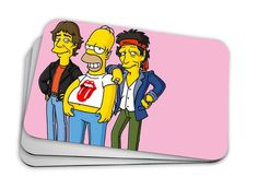 Mouse Pad Hommer + Rolling stones!