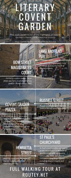 London Covent Garden walking tour, self guided tour in the area with a focus on literary history. Routey Blog — Travel Inspired