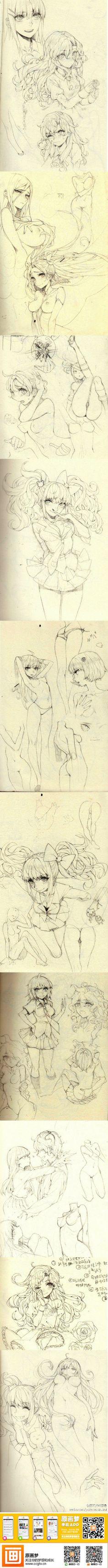Chan筱的照片 - 微相册@植物系の小绿采集到手绘(1012图)_花瓣插画/漫画