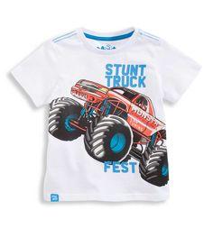 Sklep internetowy C&A | T-shirt, kolor:  biały / czerwony | Dobra jakość w niskiej cenie 12,90