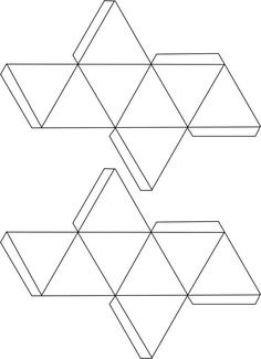 Vorlage für Hohlkörper zum Falten - Oktaeder                                                                                                                                                      Mehr