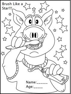 Teeth Coloring Pages