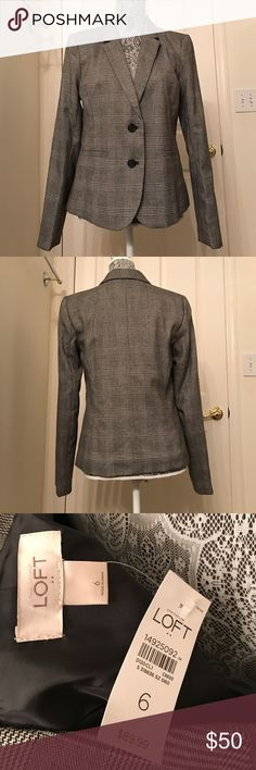 Loft Grey Jacket Brand new great jacket LOFT Jackets & Coats Blazers
