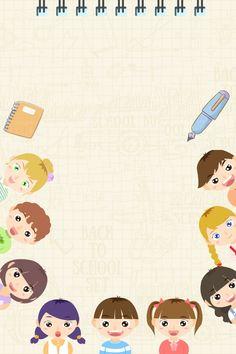 Minimalism School Season Child Book – Wallpaper World