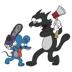 """""""Itchy and Scratchy"""" T-Shirts & Hoodies by tical364 