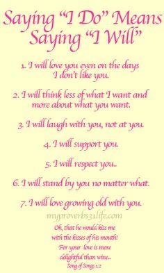 """I do"" means ""I will""..."
