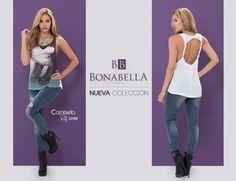 Siéntete segura y chic, con esta pinta al estilo rockero. Precio camiseta: http://bonabella.com.co/producto/camiseta-23486/