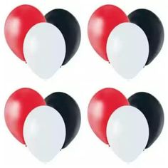 """Red, White, And Black 11"""" Latex Balloons (12 Pack) Party supply Balloons http://www.amazon.com/dp/B00JMQBOHQ/ref=cm_sw_r_pi_dp_NLC.ub0TPWHVP"""