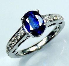 Untreated GIA G. G Certified 18 kt White Gold by SapphireRingCo, $3195.00 by Sapphire Ring Co please see our colletion of natural sapphire rings @ www.sapphireringco.com