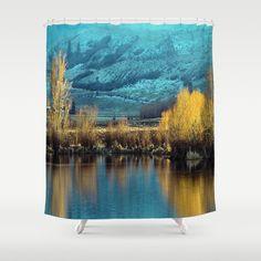 Golden sunset-Tolo Lake #showercurtain #bestgiftideas