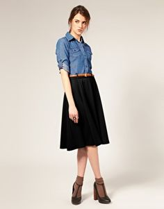 Need a denim shirt for my skirt from H&M that looks just like this one!