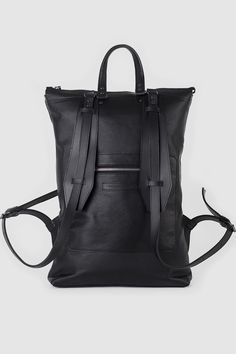 #Backpack #Leather #Black