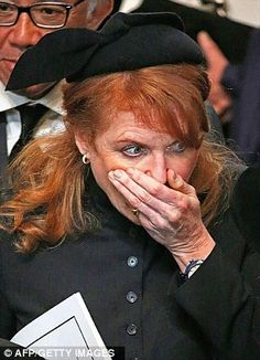 So vile and inappropriate. Duchess of York at Baroness Thatchers funeral. What an embarrassment.