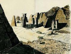 Rois des sables - Cité antique de Méroé, Soudan