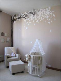 The EXACT colour of my nursery ❤️Neutral Baby Nursery Ideas Bird Nursery, Nursery Room, Nursery Decor, Themed Nursery, Baby Bedroom, Baby Room Decor, Kids Bedroom, Room Baby, Twin Baby Rooms