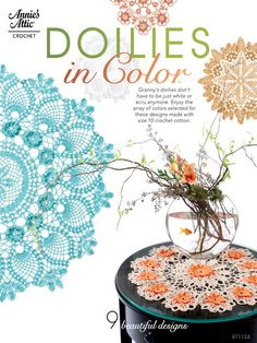Crochet - Doily Patterns - Assorted Patterns - Doilies in Color