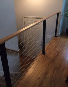 Side Hustle Ideas Discover Surface mount cable railing posts and components. Surface mount cable railing posts and components. Cable Stair Railing, Loft Railing, Cable Railing Systems, Staircase Railings, Banisters, Staircase Design, Stairways, Modern Railings For Stairs, Stairway Railing Ideas