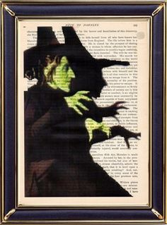 The Witch From The Wizard Of Oz Print on Vintage DICTIONARY Page Art Print 8x10