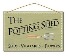 potting shed sign - Google Search