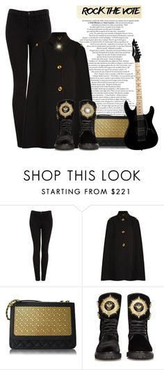 """""""Metal Rock"""" by sherieme ❤ liked on Polyvore featuring J Brand, Burberry, Poupée Couture, Balmain and Floyd"""