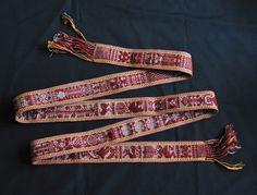 https://flic.kr/p/8JKXhb | Zapotec Belt Oaxaca | This fine belt woven from wool and cotton was made by a weaver in Santo Tomas Jalieza, a Zapotec town near Ocotlan de Morelos, Oaxaca Mexico
