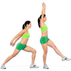 Victory Lunge  Ab workout you can do standing up. - Better Homes and Gardens
