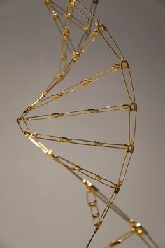 Mircea Cantor: Epic Fountain, 2012  24 k gold plated safety pins 314 cm high x 21 cm large
