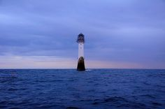 The Bell Rock Lighthouse at dusk, Scotland