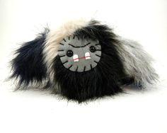 Plush Sasquatch Kawaii Monster toy grey black navy tan stuffed animal baby yeti ugly cute kawaii softie big foot beast plushie small toy by TheJaeBird on Etsy