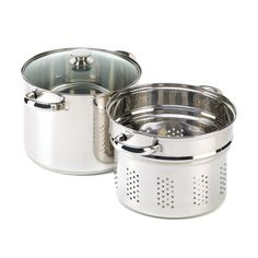 Stainless Steel Pasta Cooker 8Qt Stock Pot Strainer Lid Set Cookware Steamer Sto #HomeLocomotion