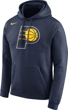Nike Men s Indiana Pacers Club Navy Pullover Hoodie dde42ec75