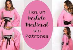 Como hacer un Vestido Medieval Sin Patrón Tutu, Soft Dolls, Diy Costumes, Craft Tutorials, How To Make Money, Graphic Sweatshirt, Cosplay, Sewing, Sweatshirts