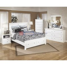 Signature Design Bostwick Shoals B139 7 pc Queen Storage Bedroom Set