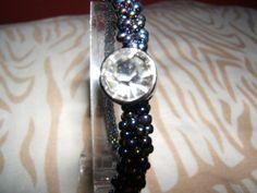 Peacock Bangle Bracelet by BJDevine on Etsy