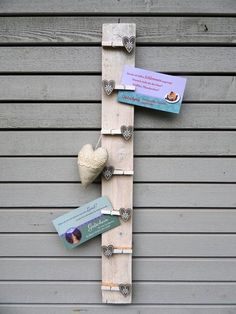 Memoleiste C mit 7 Klammern für Notizen, Fotos ... von lamemo auf DaWanda.com