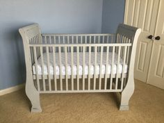 Gave this sweet crib a new look using Paris Grey #ASCP