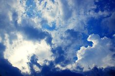 Striking Clouds Photography Print, White Cloud Photo Print, Sky Photography by thebqe on Etsy