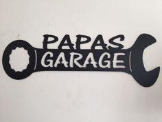 Papas Garage signe par CFabMetalWorx sur Etsy