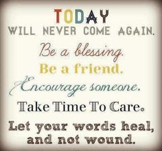 Be a blessing <3