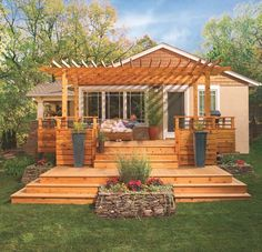 Love this idea for when we add a deck!