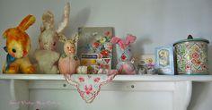 Vignette in my sewing/craft room by Sweet Vintage Rose Cottage, via Flickr