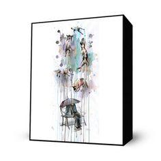 Rain Dogs Mini Art Block now featured on Fab.