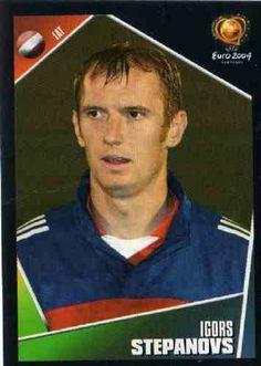 Igors Stepanovs of Latvia. Euro 2004 card.