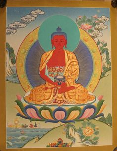 Amitabha Buddha Thangka Tibetan Handmade in Nepal(PLT021) by ShakyaHandicraft on Etsy