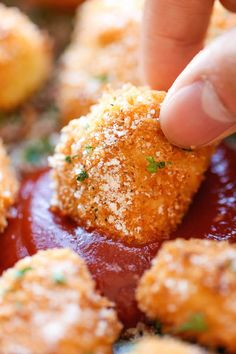Parmesan chicken bites recipe.