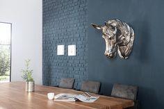 dodatki - dekoracje - rzeźba-Dekoracja ścienna Horse Silver 45cm