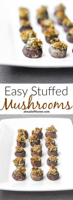 Stuffed Mushrooms: These stuffed mushroom caps make sophisticated bite-size…