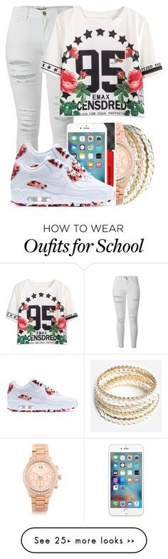 """- School -"" by marvelfaith on Polyvore featuring Frame Denim, ZooShoo, Michael Kors, Burberry and NIKE"